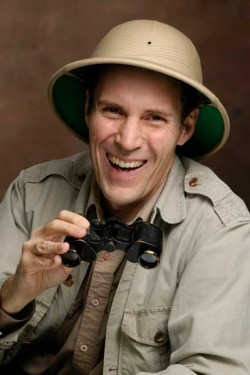 Ben Hollis Laughing in Pith Helmet